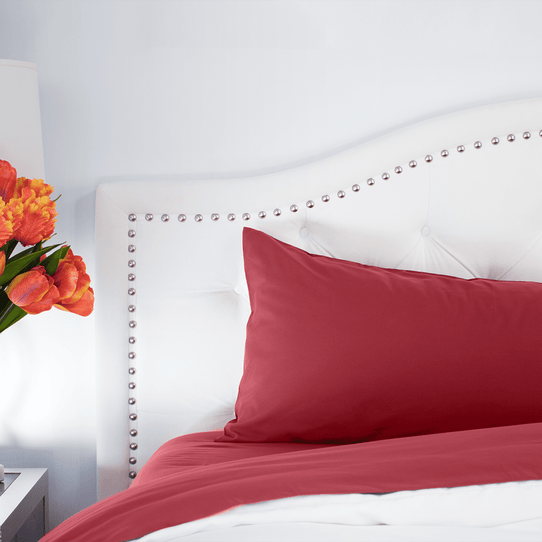 image of Deep Crimson Red Pillowcase Set