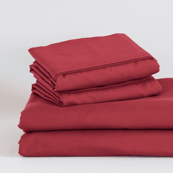 Load image into Gallery viewer, Deep Crimson Red Sheet Set
