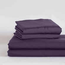 Load image into Gallery viewer, Eggplant Sheet Set