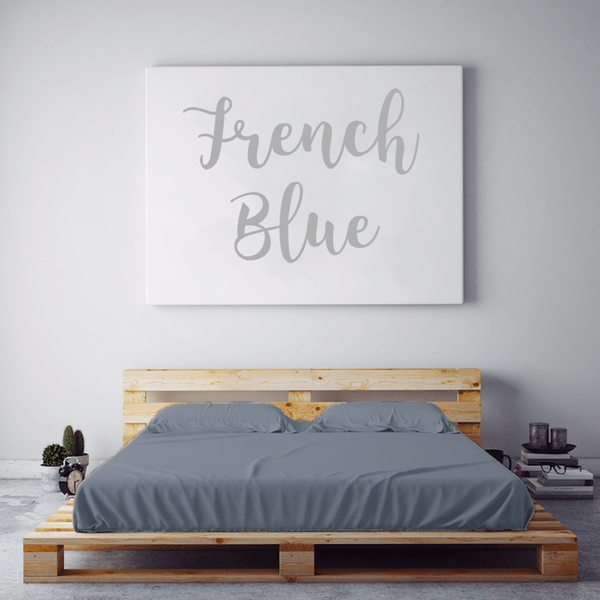 Load image into Gallery viewer, French Blue Sheet Set