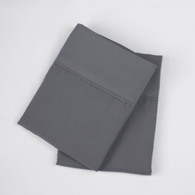 Load image into Gallery viewer, Graphite Gray Pillowcase Set