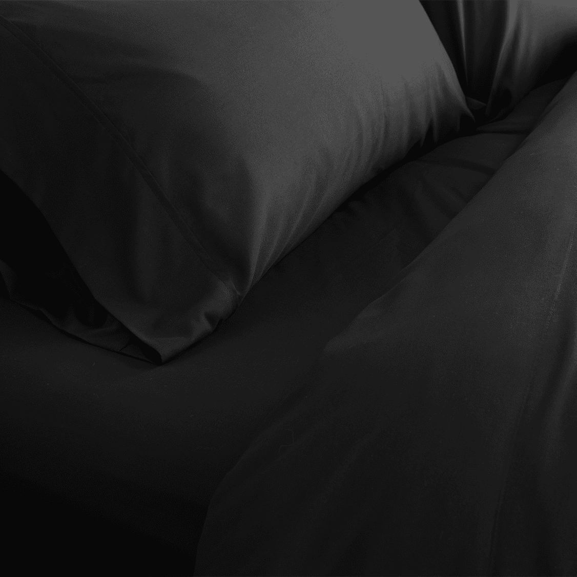 Midnight Black Fitted Sheet