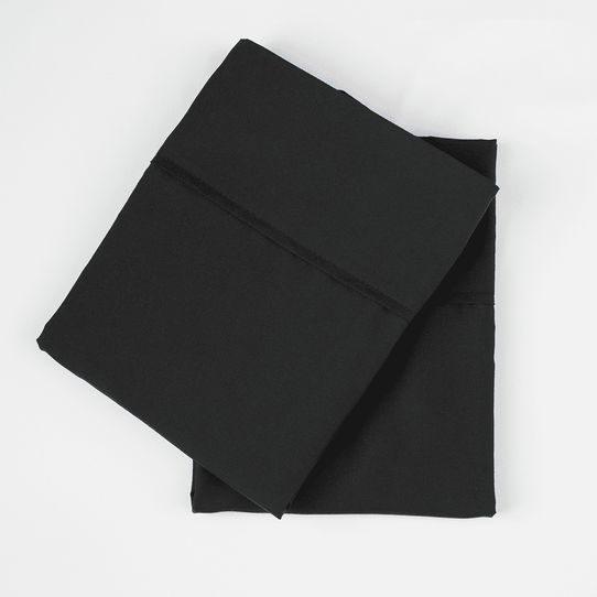 image of Midnight Black Pillowcase Set