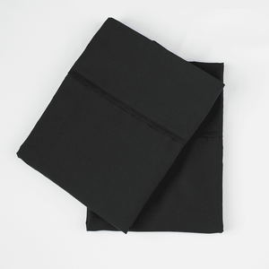 Midnight Black Pillowcase Set