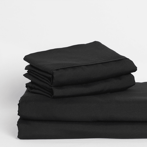 Midnight Black Sheet Set