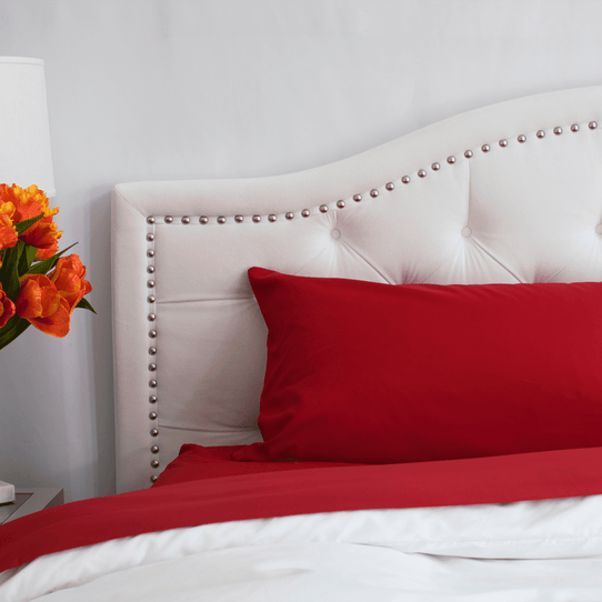 image of Red Velvet Flat Sheet