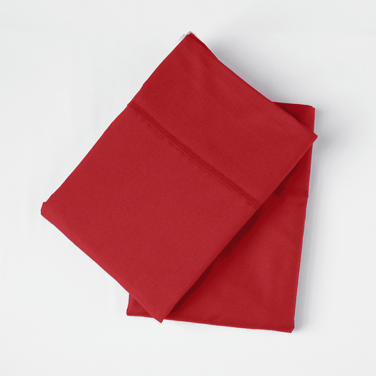 image of Red Velvet Pillowcase Set