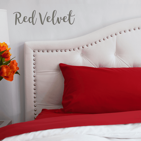 image of Red Velvet Sheet Set