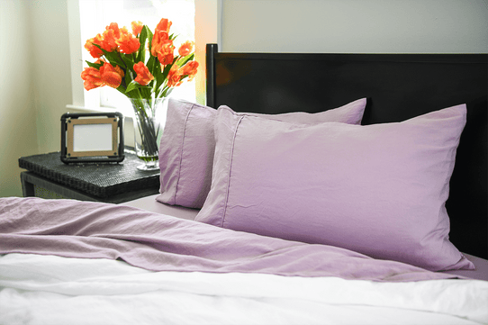 image of Vintage Plum Pillowcase Set- Sold Out