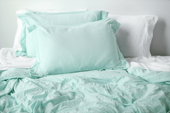 image of Vintage Seafoam Duvet Cover Set
