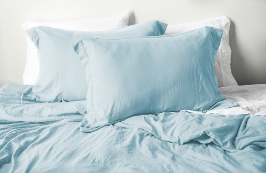 image of Vintage Powder Blue Duvet Cover Set