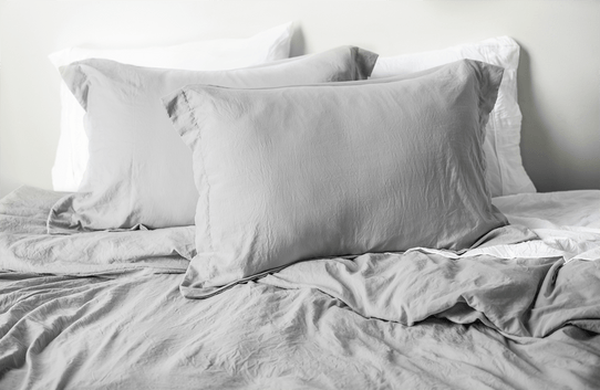 image of Vintage Silver Frost Duvet Cover Set