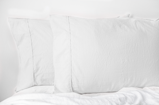 image of Vintage Soft White Pillowcase Set