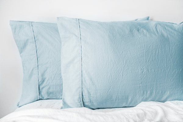 Load image into Gallery viewer, Vintage Powder Blue Pillowcase Set