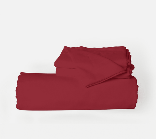 image of Deep Crimson Red Duvet Cover Set