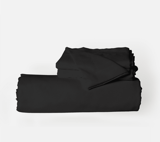 image of Midnight Black Duvet Cover Set