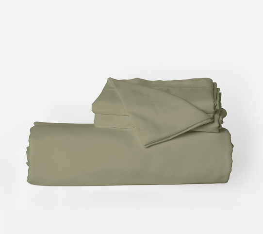 image of Sage Green Duvet Cover Set
