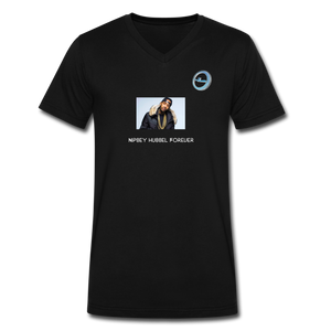 """Nipsey Hussle Forever"" Animation - Premium Men's V-Neck T-Shirt by Canvas - black"