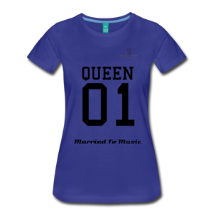 "Women DJ's Dream Logo - ""Married To Music"" Queen 01 Women's Premium T-Shirt - royal blue"