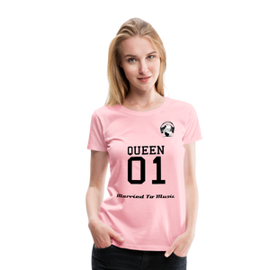 "Premier DJ E-Luv Logo - ""Married To Music"" Queen 01 Women's Premium T-Shirt - pink"
