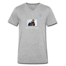 "Load image into Gallery viewer, ""Nipsey Hussle Forever"" Animation - Premium Men's V-Neck T-Shirt by Canvas - heather gray"