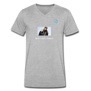 """Nipsey Hussle Forever"" Animation - Premium Men's V-Neck T-Shirt by Canvas - heather gray"