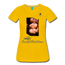 "Load image into Gallery viewer, ""Beautiful Black Women"" Line - (Shades Of Color) Soft Premium Cotton T-Shirt Final - sun yellow"