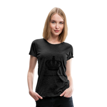 "Load image into Gallery viewer, Women DJ's Dream Logo - ""Married To Music"" Queen 01 Women's Premium  T-Shirt - charcoal gray"