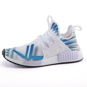 Next Level Logo - Custom Design - Men's Lightweight *Breathable Baby Blue Fashion Casual Sports Sneakers