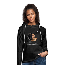 "Load image into Gallery viewer, ""Beautiful Black Women"" Line - (Inviting) Unisex Lightweight Terry Hoodie - charcoal gray"