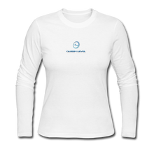 "Load image into Gallery viewer, Next Level *Official ""Queen Level"" - Women's Long Sleeve Jersey T-Shirt - white"