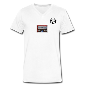 "2Pac Multi-Platinum - ""All Eyez on Me"" - Premier DJ E-Luv Logo I Men's V-Neck T-Shirt by Canvas - white"