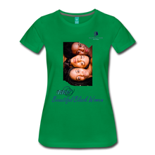 "Load image into Gallery viewer, ""Beautiful Black Women"" Line - (Shades Of Color) Soft Premium Cotton T-Shirt Final - kelly green"