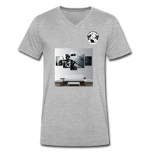 "Load image into Gallery viewer, Premier DJ E-Luv Logo - ""Wreck Da Decks"" Wall Art - Men's V-Neck T-Shirt by Canvas - heather gray"