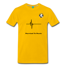 "Load image into Gallery viewer, Premier DJ E-Luv Logo - ""Married To Music"" Signature Men's Premium T-Shirt - sun yellow"