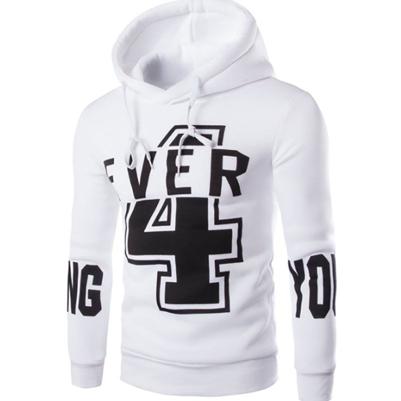 Men'S New Fashion Digital 4 English YOUNG Printing Design Hoodies