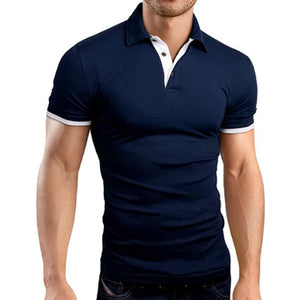 2018 Men'S New Solid Color Short Sleeved  Shirt