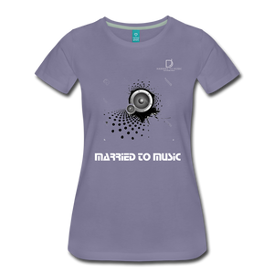 "Women DJ's Dream Logo - ""Married To Music"" Speaker Box Women's Premium T-Shirt - washed violet"