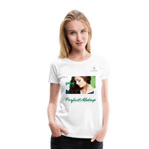 "P.M. -""Perfect Makeup"" Line - Finally Flawless Soft Premium T-Shirt - white"