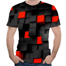 Load image into Gallery viewer, New Fashion Concave and Convex Lattice 3D Printed Men's Short Sleeve T-Shirt