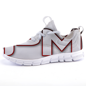 "P.M. - ""Perfect Makeup"" Line - Women's Lightweight *Breathable Raspberry Trim Casual Sports Sneakers"