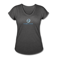 "Load image into Gallery viewer, Next Level *Official ""Queen Level"" - Women's Tri-Blend V-Neck T-Shirt - deep heather"