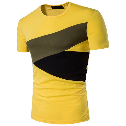 Men's Hit Color *Breathable Short Sleeve Casual Dress T-Shirt