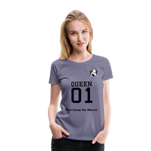 "Load image into Gallery viewer, Premier DJ E-Luv Logo - ""Married To Music"" Queen 01 Women's Premium T-Shirt - washed violet"