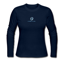 "Load image into Gallery viewer, Next Level *Official ""Queen Level"" - Women's Long Sleeve Jersey T-Shirt - navy"