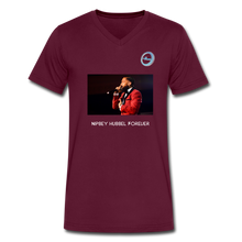 "Load image into Gallery viewer, N.L. ""Nipsey Hussle Forever"" - Premium Men's V-Neck T-Shirt by Canvas - maroon"