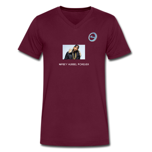 """Nipsey Hussle Forever"" Animation - Premium Men's V-Neck T-Shirt by Canvas - maroon"