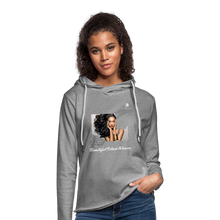 "Load image into Gallery viewer, ""Beautiful Black Women"" Line - (Inviting) Unisex Lightweight Terry Hoodie - heather gray"
