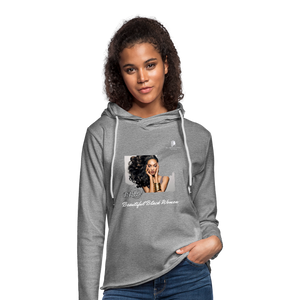 """Beautiful Black Women"" Line - (Inviting) Unisex Lightweight Terry Hoodie - heather gray"