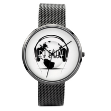 Load image into Gallery viewer, Premier DJ E-Luv Logo 30 Meters Waterproof Quartz Stylish Stainless Steel Watch
